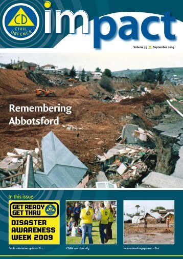 Remembering Abbotsford - Ministry of Civil Defence and Emergency ...