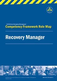 Recovery Manager Role Map - Ministry of Civil Defence and ...