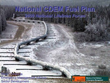 National CDEM Fuel Plan - Ministry of Civil Defence and Emergency ...