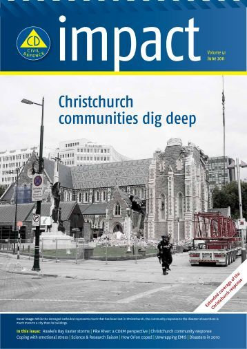 Christchurch communities dig deep - Ministry of Civil Defence and ...