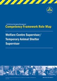 Competency Framework Role Map - Ministry of Civil Defence and ...
