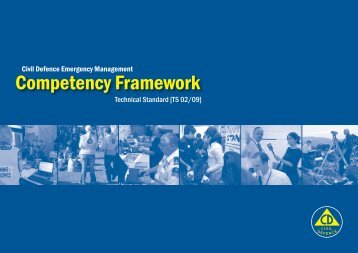 Competency Framework - Ministry of Civil Defence and Emergency ...