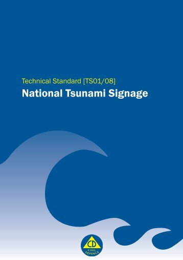 Technical Standard: National Tsunami Signage - Ministry of Civil ...