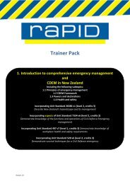 Trainer Pack - Ministry of Civil Defence and Emergency Management