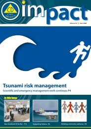 Tsunami risk management - Ministry of Civil Defence and ...