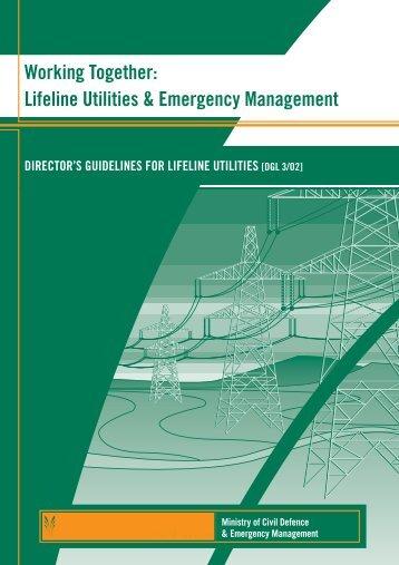 Lifeline Utilities & Emergency Management - Ministry of Civil ...