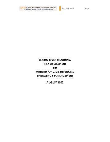 WAIHO RIVER FLOODING RISK ASSESSMENT For MINISTRY OF ...