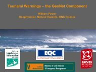 Tsunami Warnings – the GeoNet Component - Ministry of Civil ...