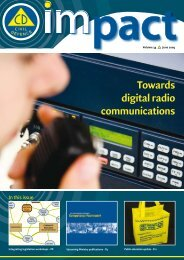 Towards digital radio communications - Ministry of Civil Defence and ...