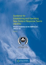 Guidance for Establishing and Operating New Zealand Response ...
