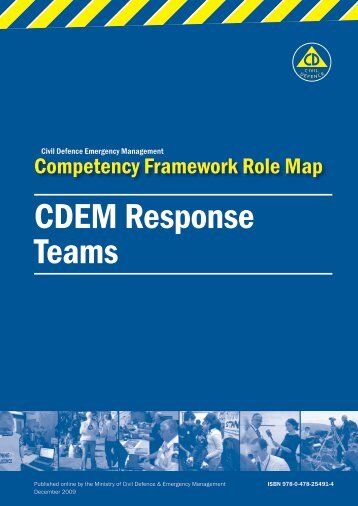 CDEM Response Teams - Ministry of Civil Defence and Emergency ...