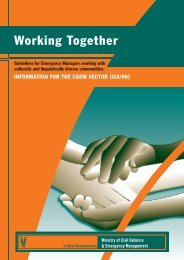 Working Together - Ministry of Civil Defence and Emergency ...