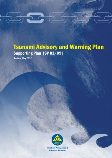 Tsunami Advisory and Warning Plan - Ministry of Civil Defence and ...