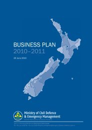 BUSINESS PLAN 2010–2011 - Ministry of Civil Defence and ...