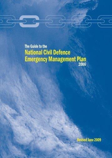 National Civil Defence Emergency Management Plan