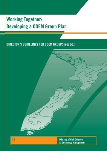 Developing a CDEM Group Plan - Ministry of Civil Defence and ...