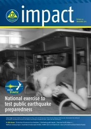 Impact - Ministry of Civil Defence and Emergency Management