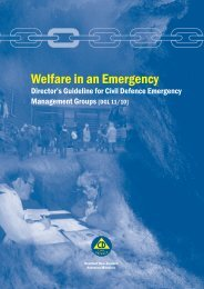 Welfare in an Emergency - Ministry of Civil Defence and Emergency ...
