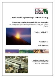Auckland Engineering Lifelines Group - Ministry of Civil Defence ...