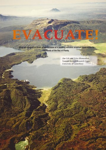evacuate! - Ministry of Civil Defence and Emergency Management