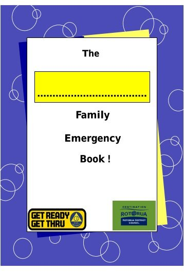 Family Emergency Book ! - Ministry of Civil Defence and Emergency ...