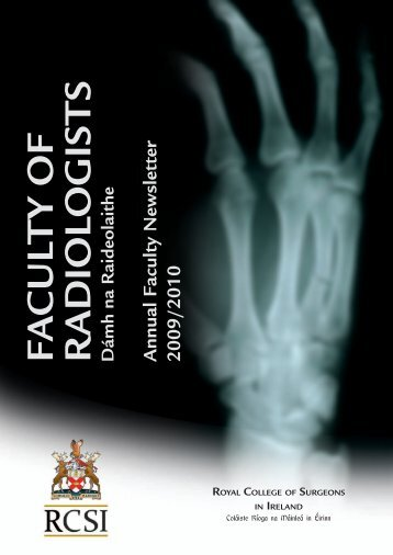 Annual Report 2009-2010 - Faculty of Radiologists