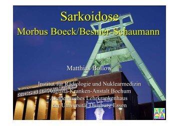 Sarkoidose - Institut für Radiologie, Nuklearmedizin und ...