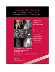 UW WOW–HIPS CONFERENCE - Department of Radiology
