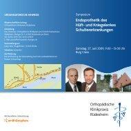 Endoprothetik des Hüft- und Kniegelenkes Schultererkrankungen ...