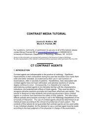 Contrast media tutorial - Department of Radiology