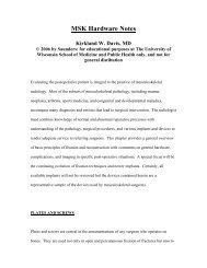 MSK Hardware Notes – Kirkland W. Davis, MD