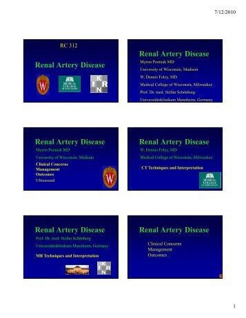 Renal Artery Disease Renal Artery Disease Renal Artery Disease ...