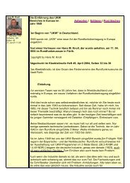 Die Einführung des UKW Bereiches in Europa im Jahr 1949 Antworten ...