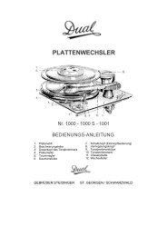 Bedienungsanleitung 1000, 1000S und 1001 - Radiomuseum.org