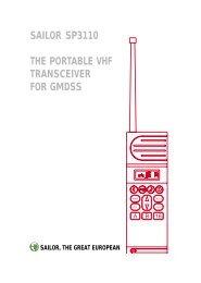 sailor sp3110 the portable vhf transceiver for gmdss - Polaris-as.dk