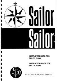 Sailor S1303-1304 Manual