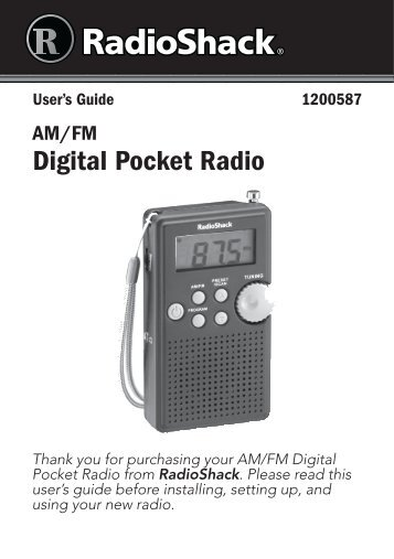 user s guide am fm weather band emergency crank radio rh yumpu com S-Video RF Modulator with RCA Inputs Radio Shack RF Modulator Manual