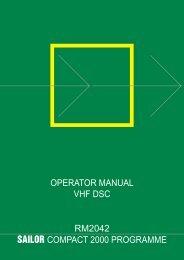 operator manual vhf dsc rm2042 sailor compact 2000 ... - Polaris-as.dk