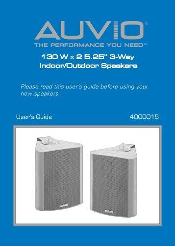 130 W × 2 5.25'' 3-Way Indoor/Outdoor Speakers ... - Radio Shack