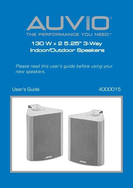 130 W A 2 5 25 3 Way Indoor Outdoor Speakers Radio