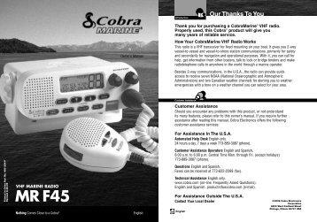 Cobra® MR F45 25-Watt Fixed-Mount VHF Marine ... - Radio Shack