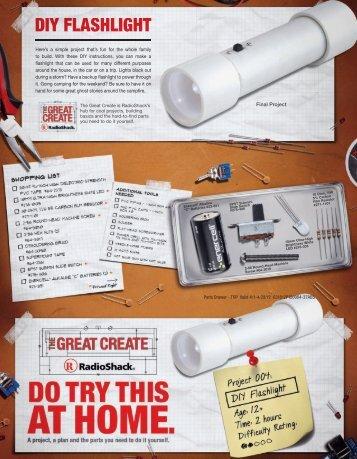 DIY FLASHLIGHT - Radio Shack