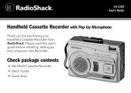 Cassette Recorder - Radio Shack