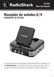 Receptor de señales A/V - Radio Shack