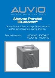 Altavoz Portátil Bluetooth® - Radio Shack