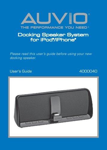 Docking Speaker System For IPodR IPhoneR