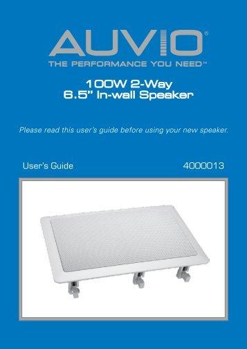 100W 2 Way 65 In Wall Speaker