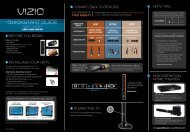 connecting to devices before you begin hdtv tips high ... - Vizio