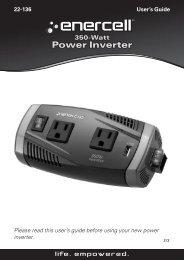 350W High Power Inverter (User's Guide) - Radio Shack