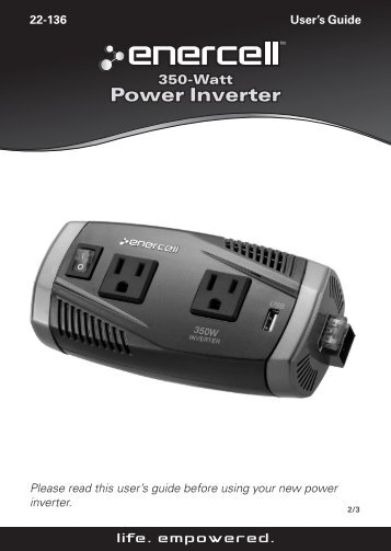 350W High Power Inverter (User's Guide) - Radio Shack